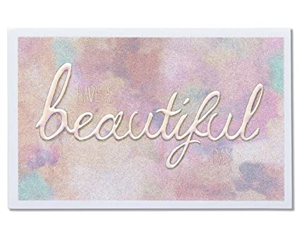 American Greetings Beautiful Day Birthday Card With Glitter