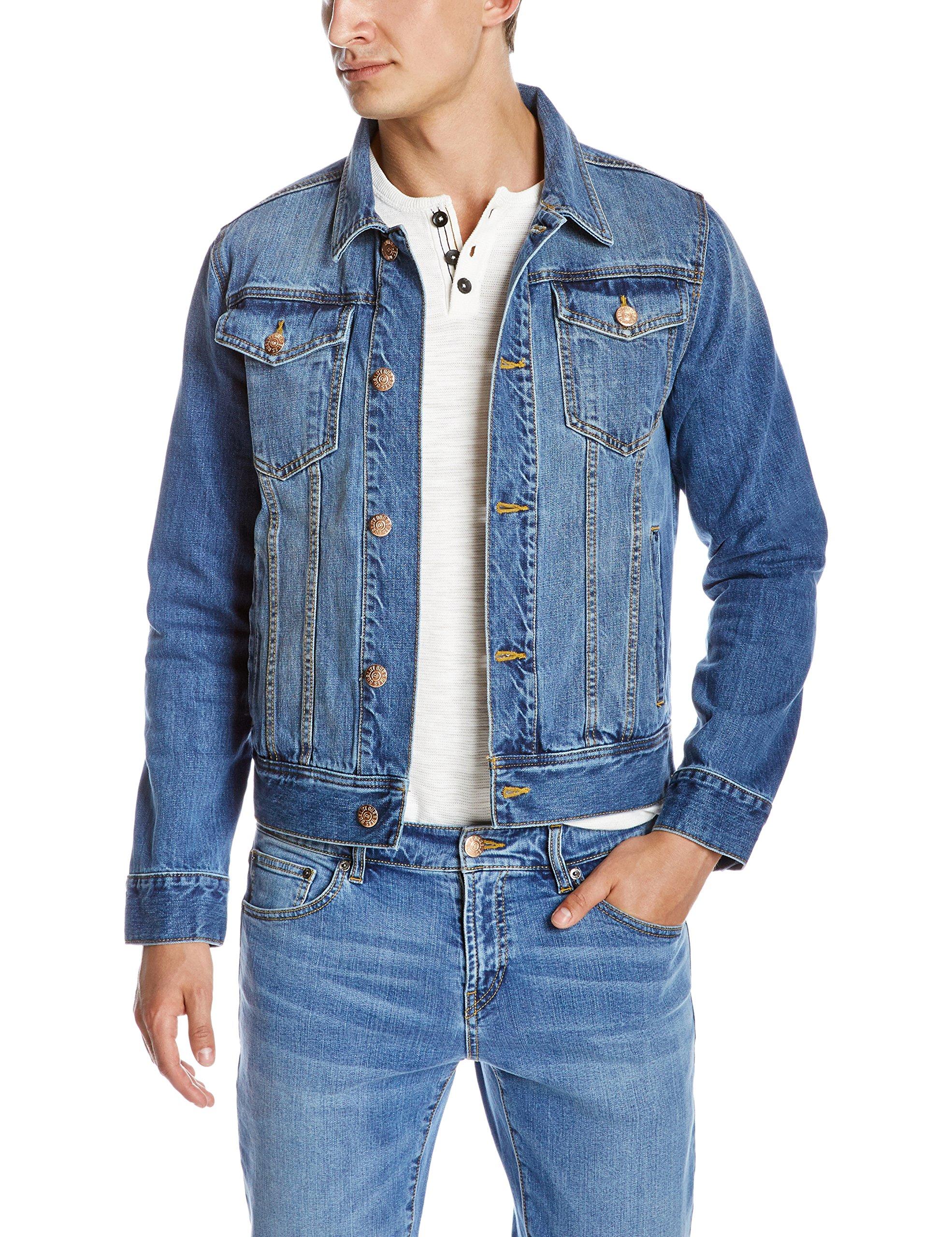 Quality Durables Co. Men's Regular-Fit Jean Jacket 2XL Paddle Wash