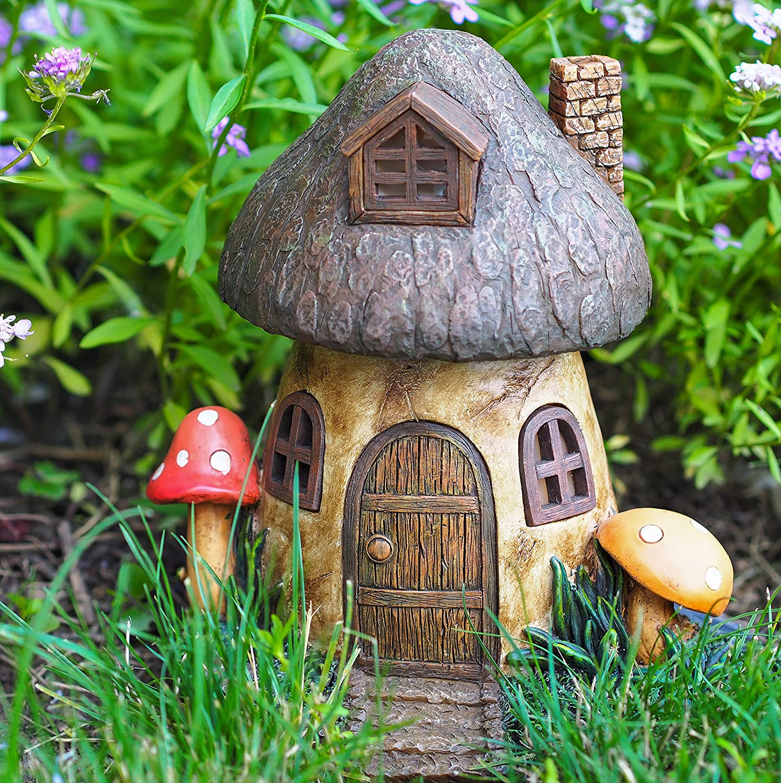 amazon com echo valley 6291 mushroom solar home home and