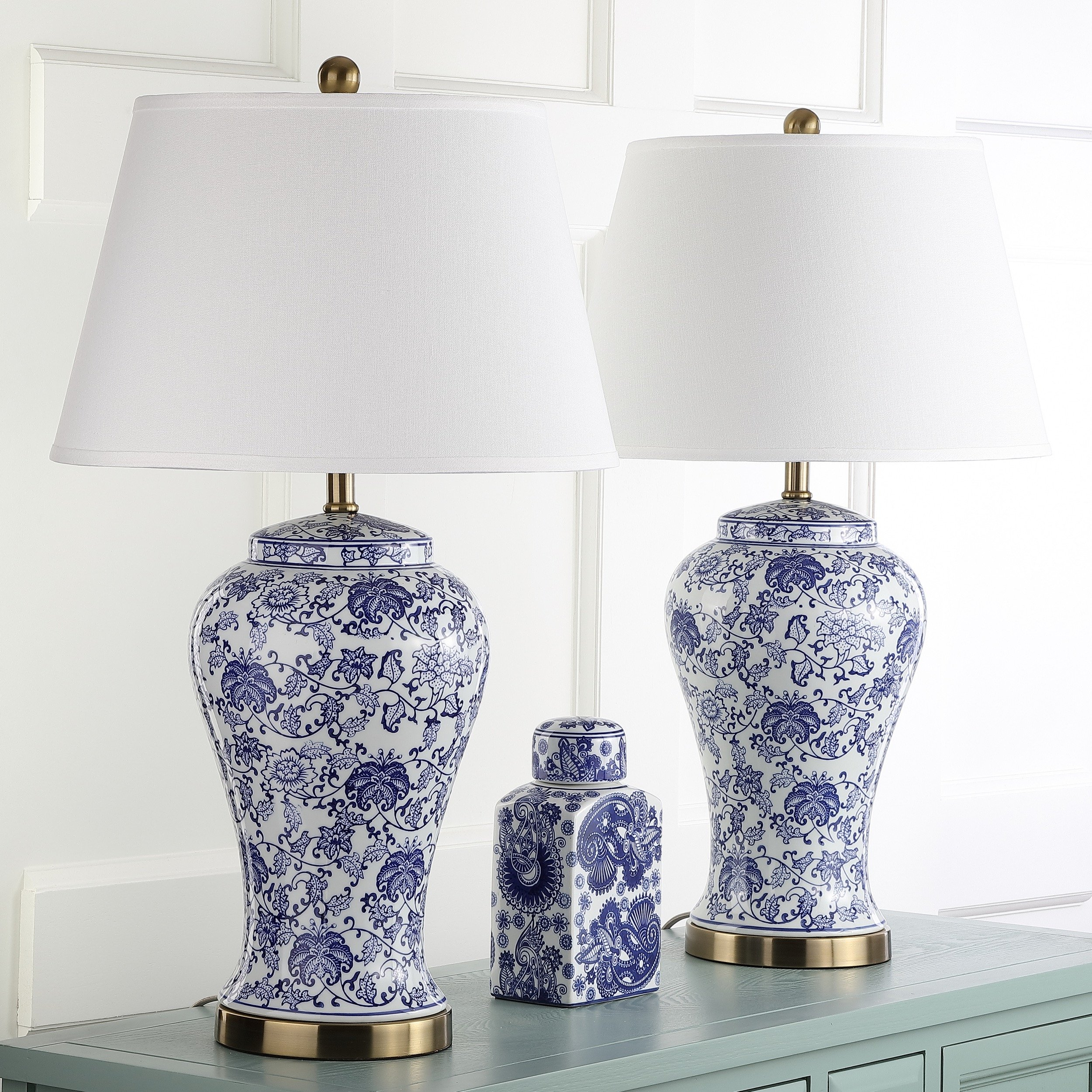 Safavieh Lighting Collection Spring Blossom Multi Floral 29-inch Table Lamp (Set of 2) by Safavieh