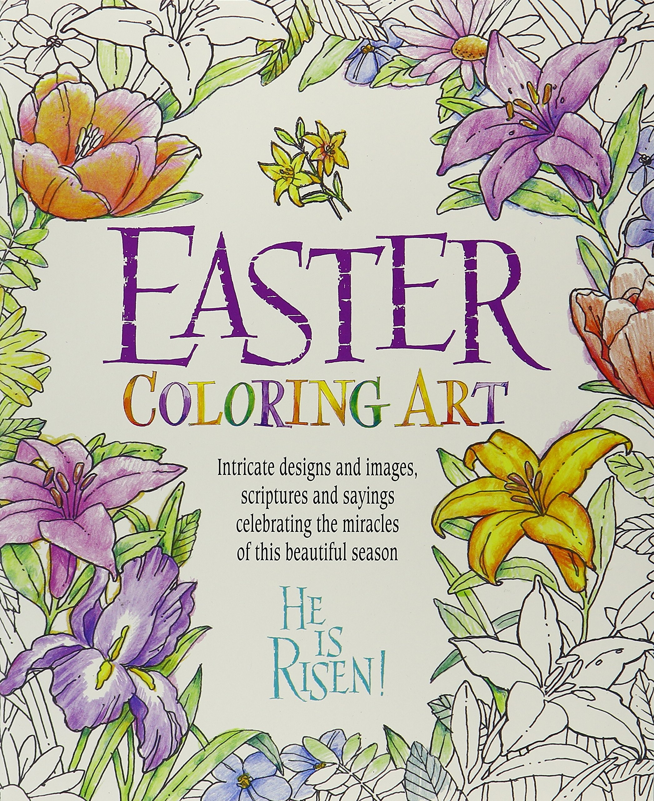 Amazon Easter Coloring Art 9780997755633 Product Concept Mfg Inc Books