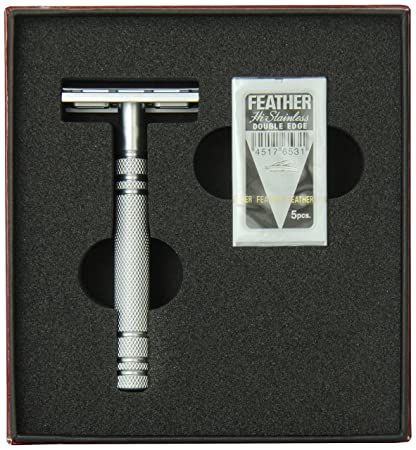 Amazon Com Feather All Stainless Steel Double Edge Razor Model As