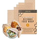 Beeswax Food Wrap Set of 5 - Reusable Wax Food Wrap - Natural Beewax Wrapping - Safe For Your Food, Odorless bee wax wraps -