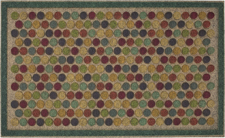 Mohawk Home Ornamental Dots Door Mat, 1'6x2'6, Bright, Multi Color
