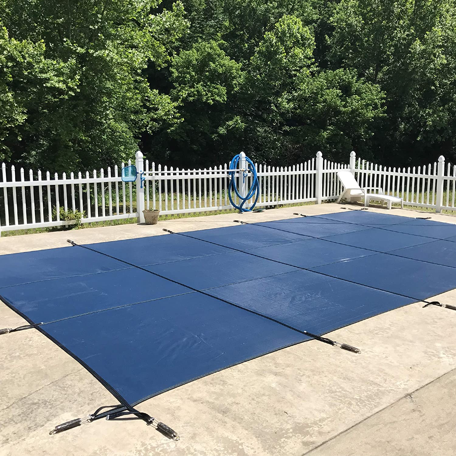Amazon.com : WaterWarden Inground Pool Safety Cover, Fits 20' x 44', Blue Mesh Easy Installation, Triple Stitched for Max Strength, Includes All Needed Hardware, SCMB2044 : Garden & Outdoor
