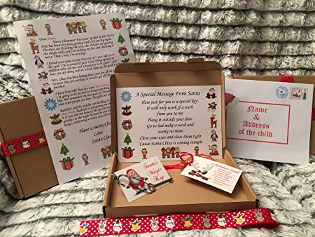 Santa christmas eve box with personalised letter santa key santa christmas eve box with personalised letter santa key reindeer food spiritdancerdesigns Image collections