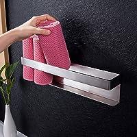 Ruicer Gastenhanddoekhouder, zelfklevend, handdoekhouder, badkamer, zonder boren, handdoekrek, roestvrij staal, 40 cm