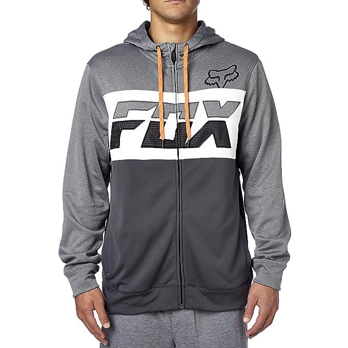Fox Racing para hombre TearOff forro polar sudadera con capucha y cremallera para hombre: Amazon.es: Deportes y aire libre