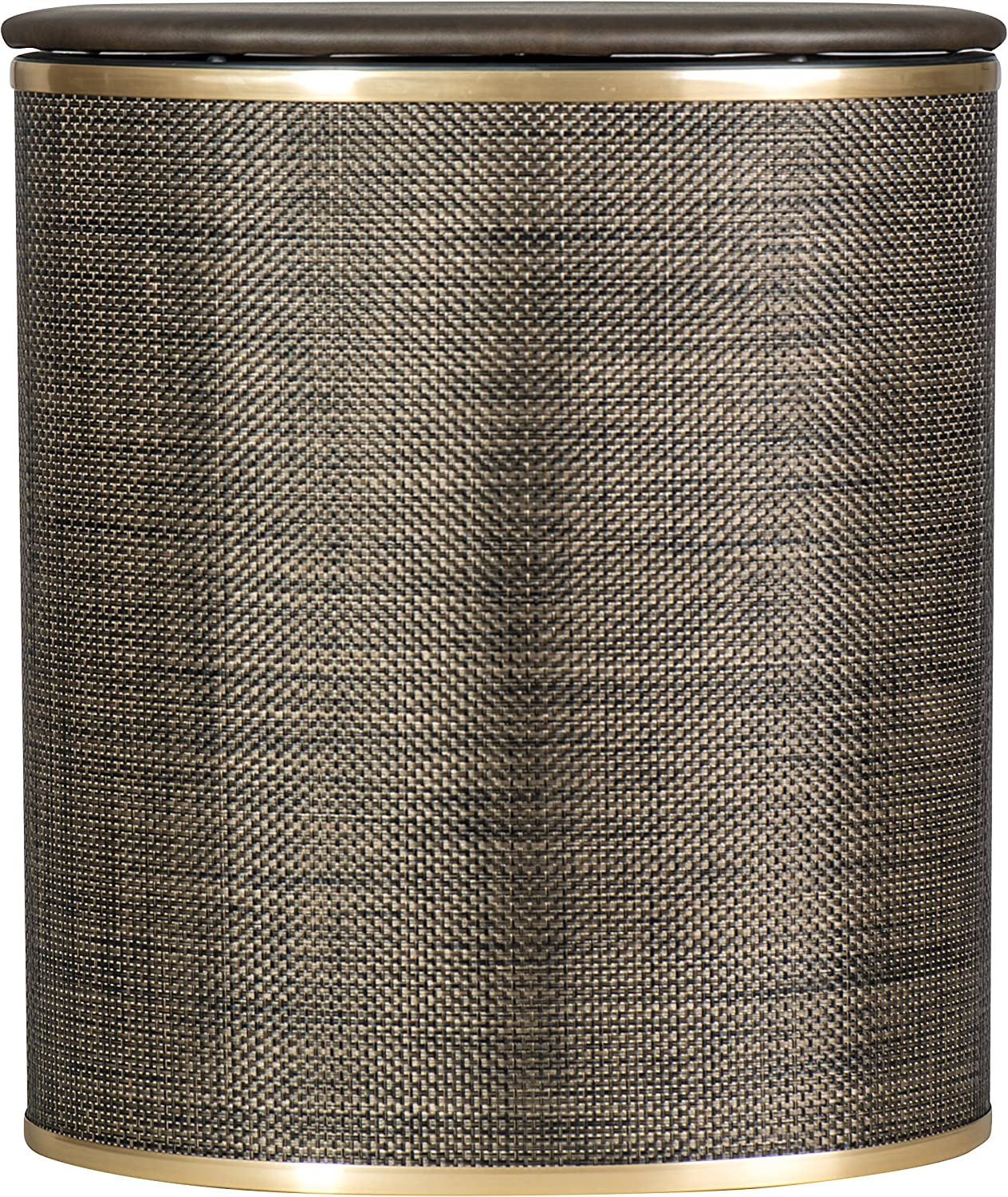 Redmon 2331 Bowed Front Hamper, Espresso/Gold