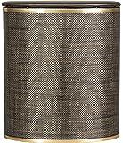 Redmon 2331 Bowed Front Hamper, Espresso/Gold