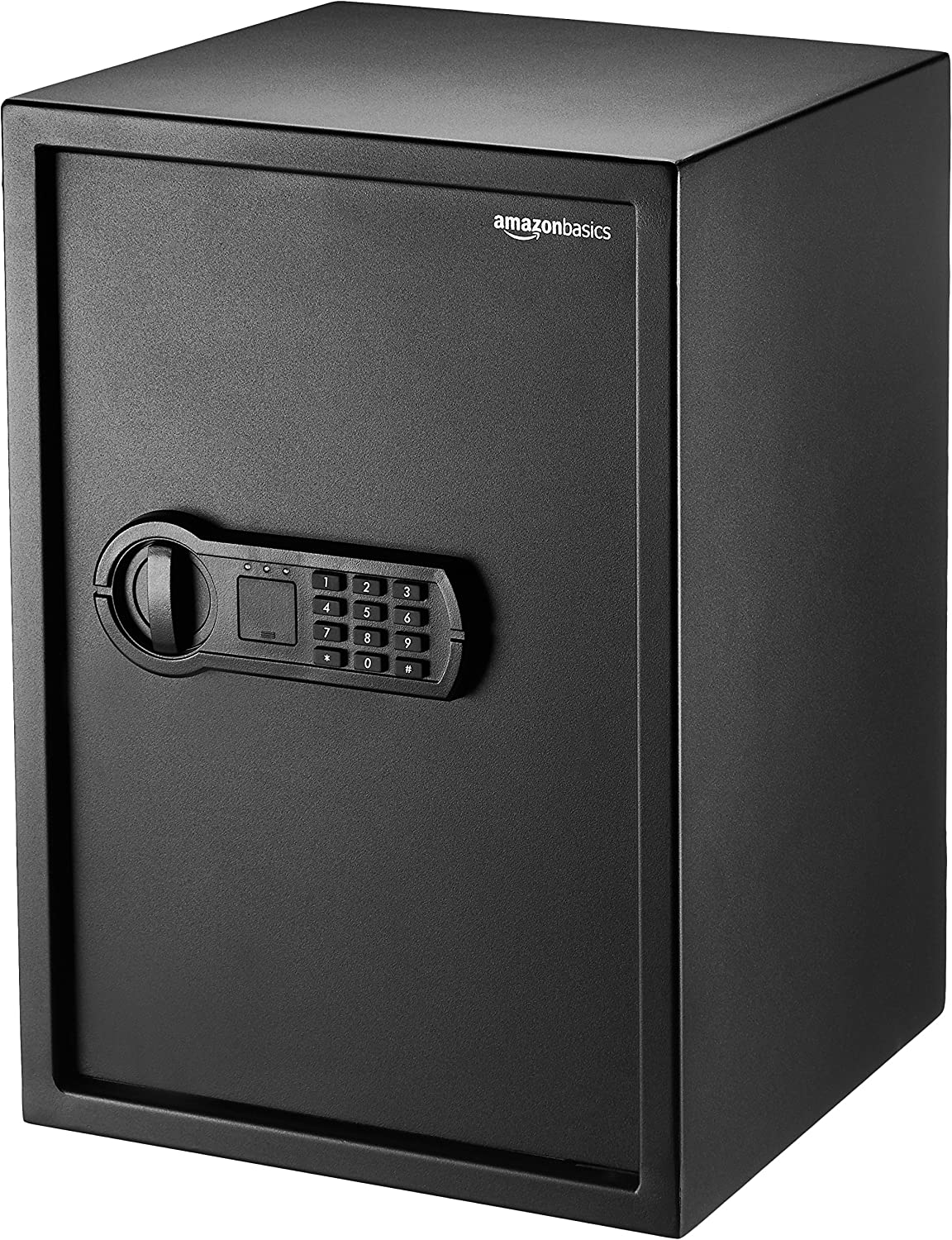 AmazonBasics Home Keypad Safe – 1.8 Cubic Feet, 13.8 x 13 x 19.7 Inches, Black