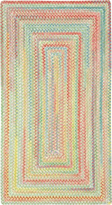 Capel Rugs Baby's Breath 7 x 7 Rectangle Braided Area Rug (Light Green)