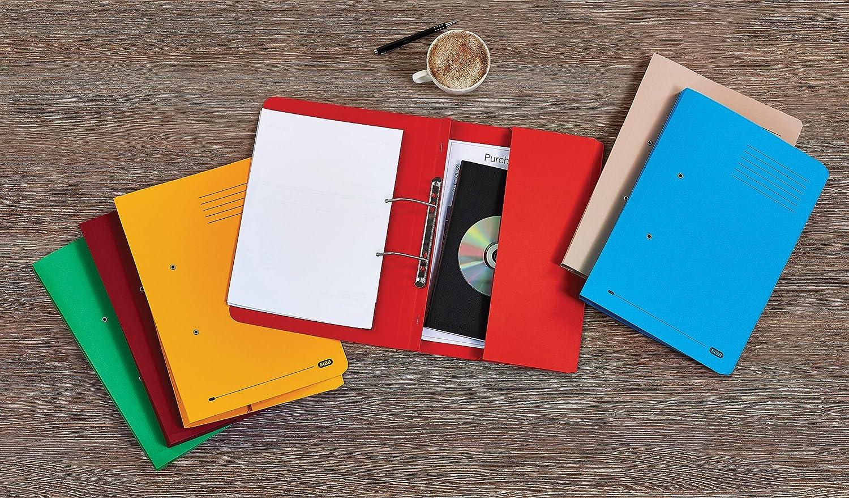 Elba Stratford 30113 30113 30113 Schnellhefter mit Tasche, recycelt, 315 g m², 32 mm, Folio-Format, 25 Stück, Blau Kanzleipapier farblich sortiert B000I2FA7I | Queensland  8ea62c