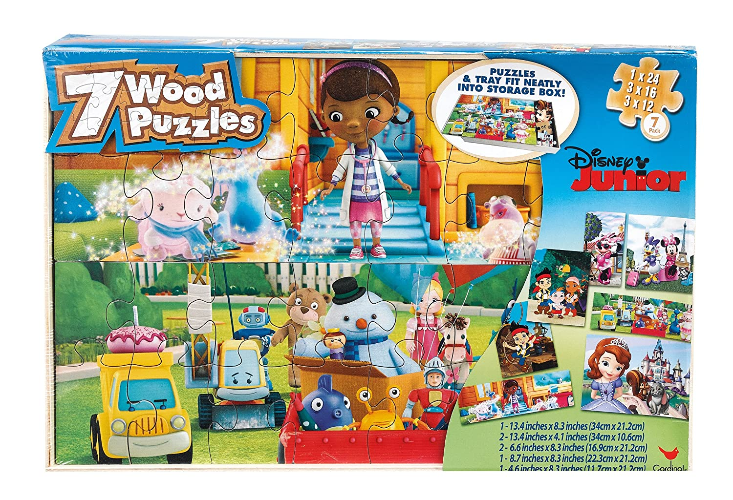 Paw Patrol 7 Wood Puzzles In Wooden Storage Box (styles will vary) 6029350