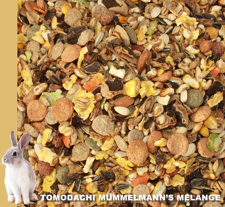 Conejos Forro, conejos Alimentos sin pellets con erdnüssen, girasol núcleos, kardi, möhre copos, guisante copos, copos de maíz - Deliciosos Multicolor ...