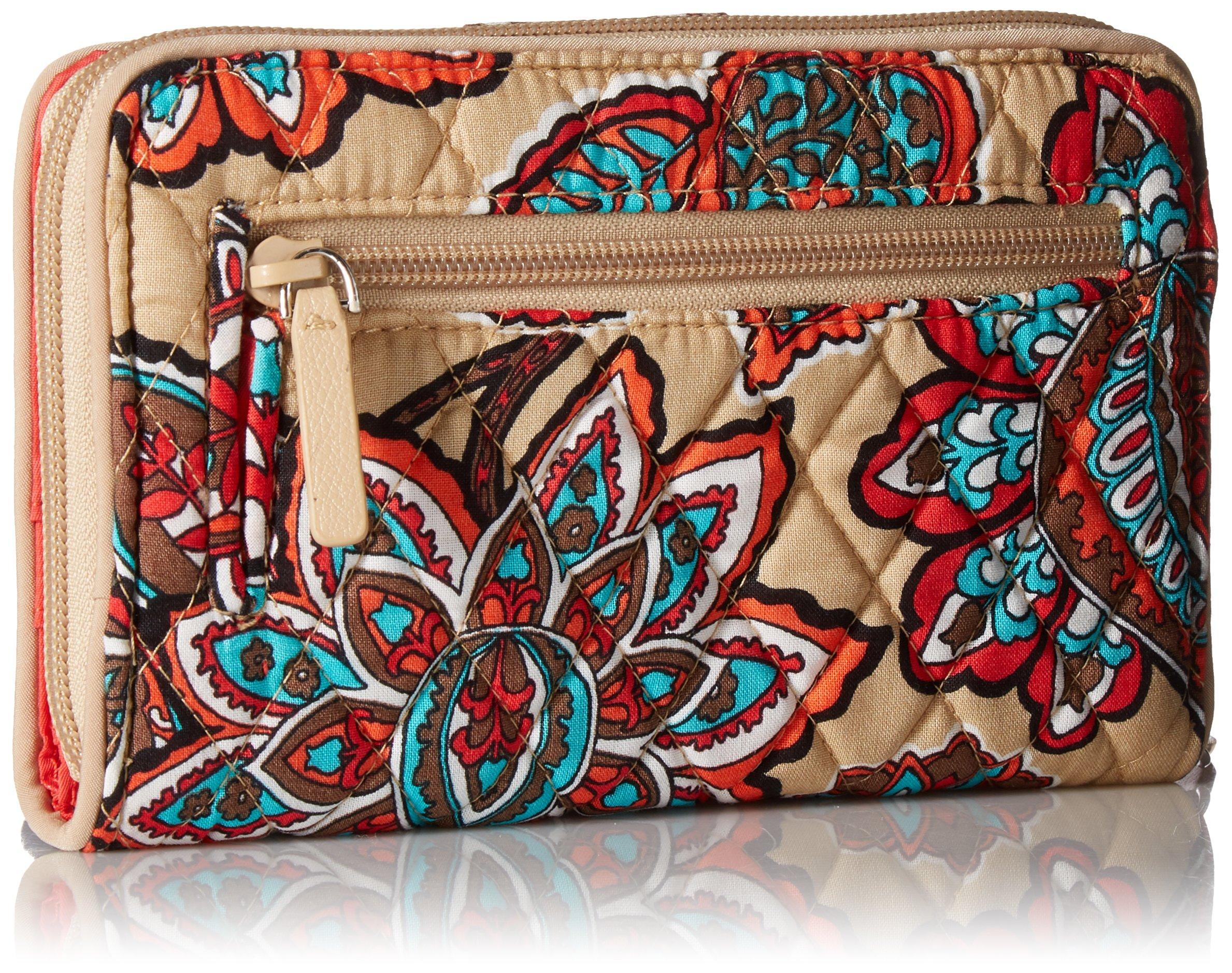 Vera Bradley Rfid Turnlock Wallet, Signature Cotton, Desert Floral + 1.50 Power by Vera Bradley (Image #2)