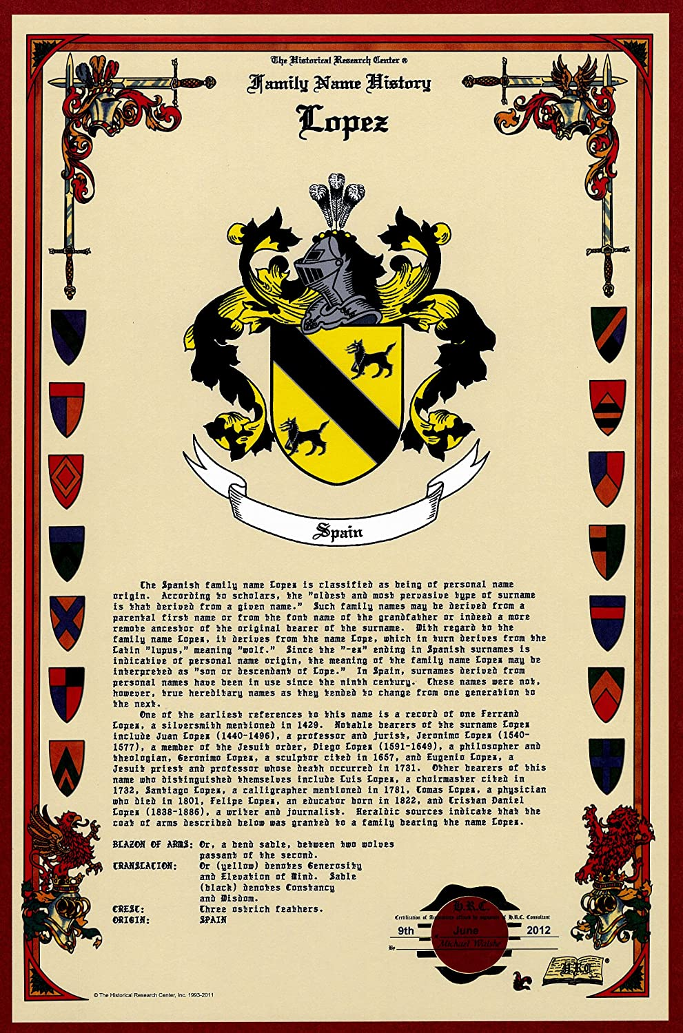Lopez coat of armscrest and family name history meaning origin lopez coat of armscrest and family name history meaning origin plus genealogyfamily tree research aid to help find clues to ancestry roots xflitez Gallery