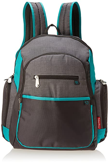 f8d60aa29 Amazon.com: Fisher Price Backpack Diaper Bag - Fastfinder Colorblock in  Grey/Teal: Jolity
