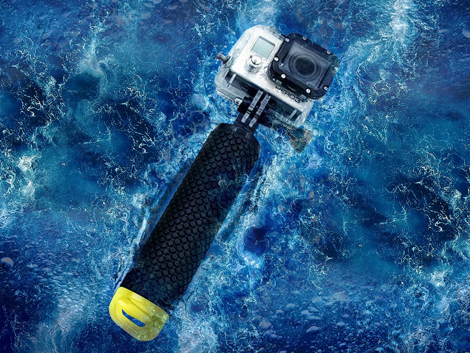 MiPremium Waterproof Floating Hand Grip Compatible with GoPro Camera Hero 5 Session Black Silver Hero 6 5 4 3 2 1 Handler /& Handle Mount Accessories Kit /& Water Sport Floaty for Action Cameras Blue