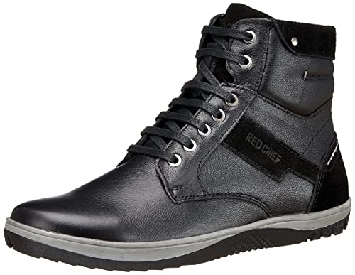 c5738b2217d Red Chief Men's Black Boots-8 UK/India (42 EU)(PF3470 001): Buy ...