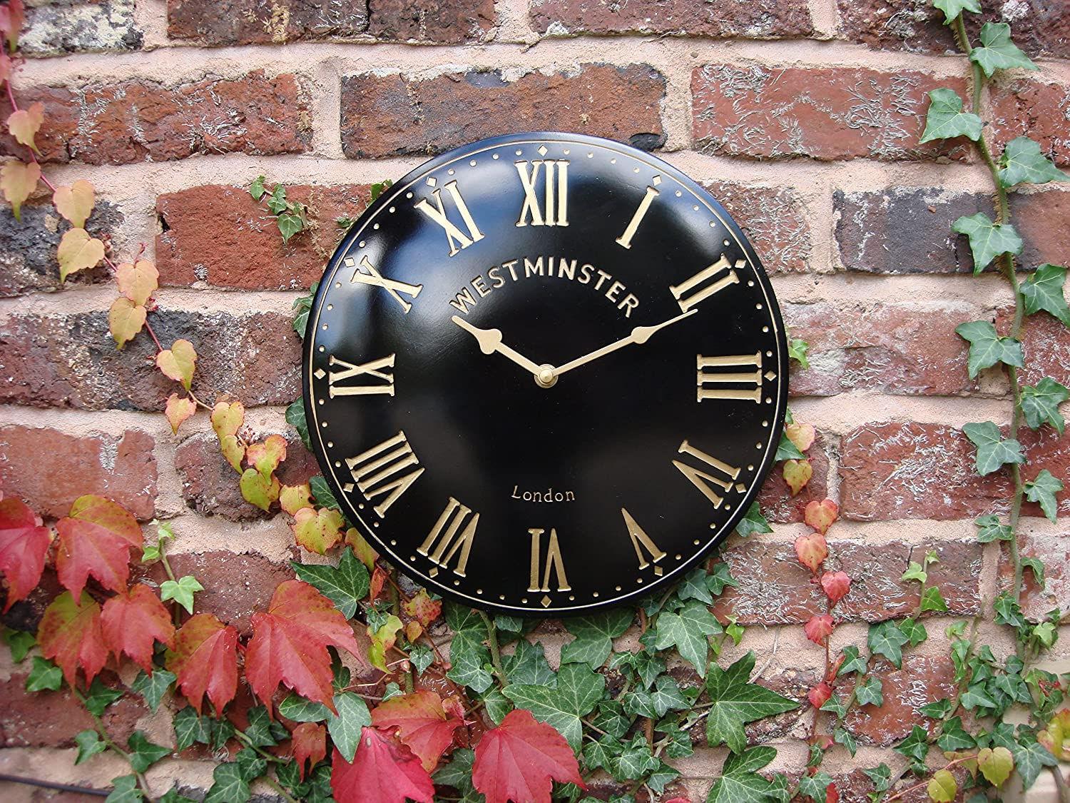 Outdoor Indoor Clock black Wall Garden Clock Home and Garden Products Ltd