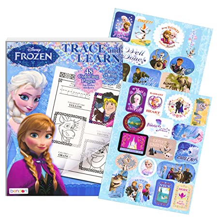 Disney Frozen Coloring Book Trace And Learn Activity With Stickers