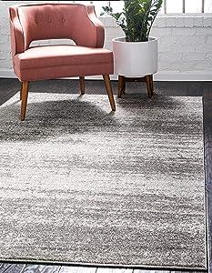 Unique Loom Del Mar Collection Contemporary Transitional Gray Area Rug (8' 0 x 11' 0)