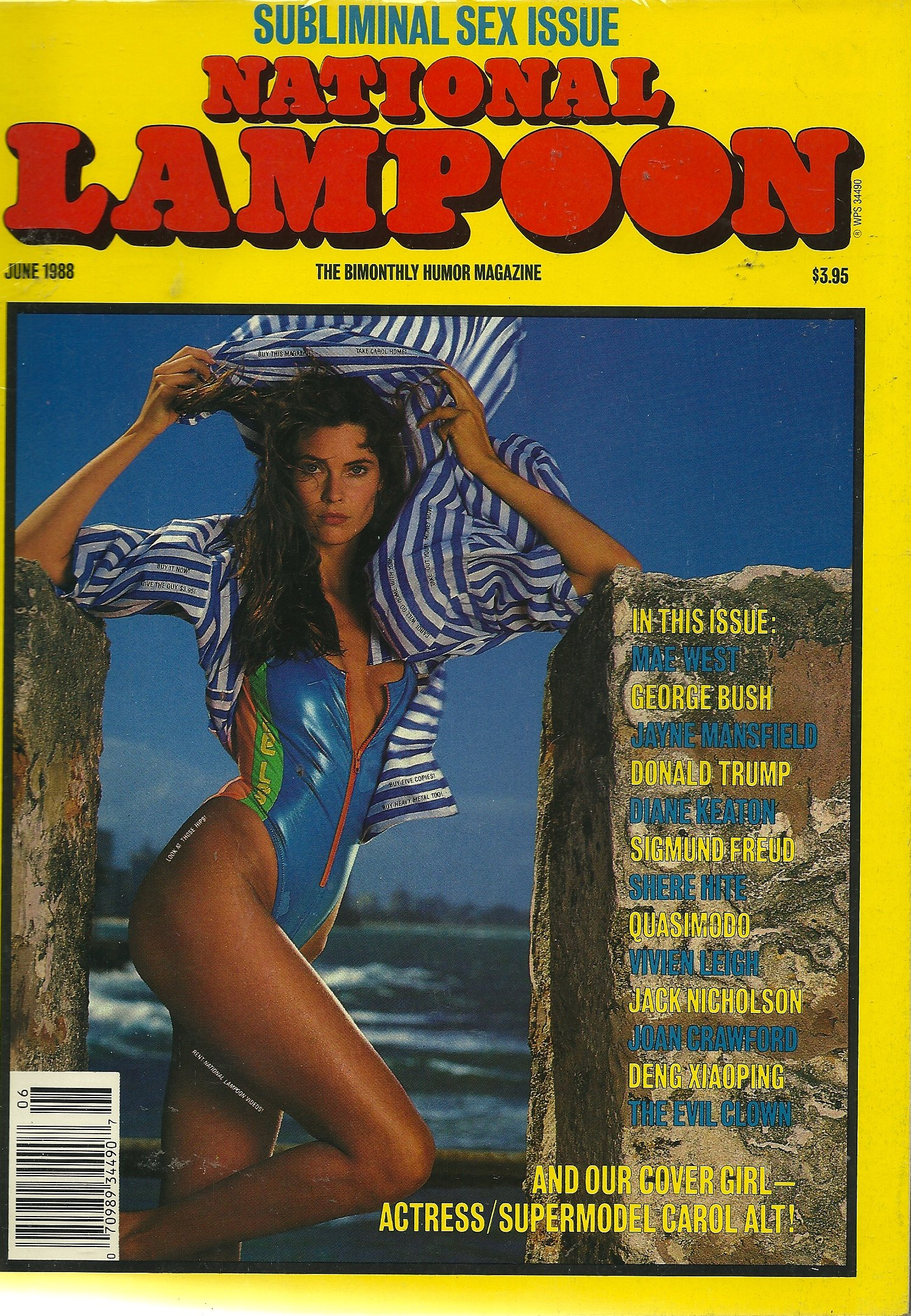 mag: NATIONAL LAMPOON... 6/88... Subliminal Sex Issue... Paperback – 1988