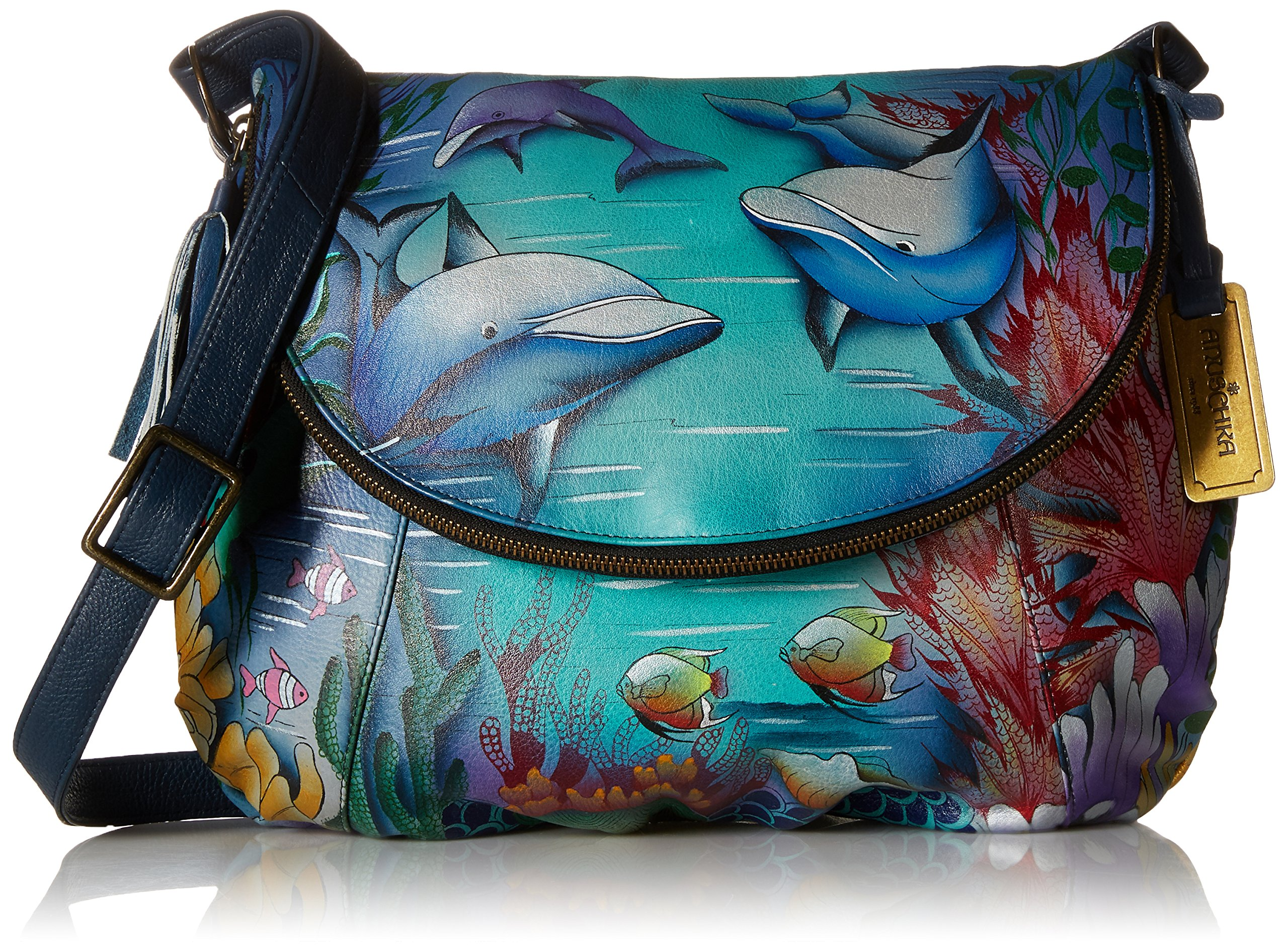 Anuschka Large Flap-Over Convertibledolphin World, Dolphin World by ANUSCHKA (Image #1)