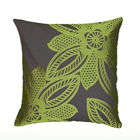 Rizzy Home Decorative Poly Filled Throw Pillow, 18 x 18 , Lime