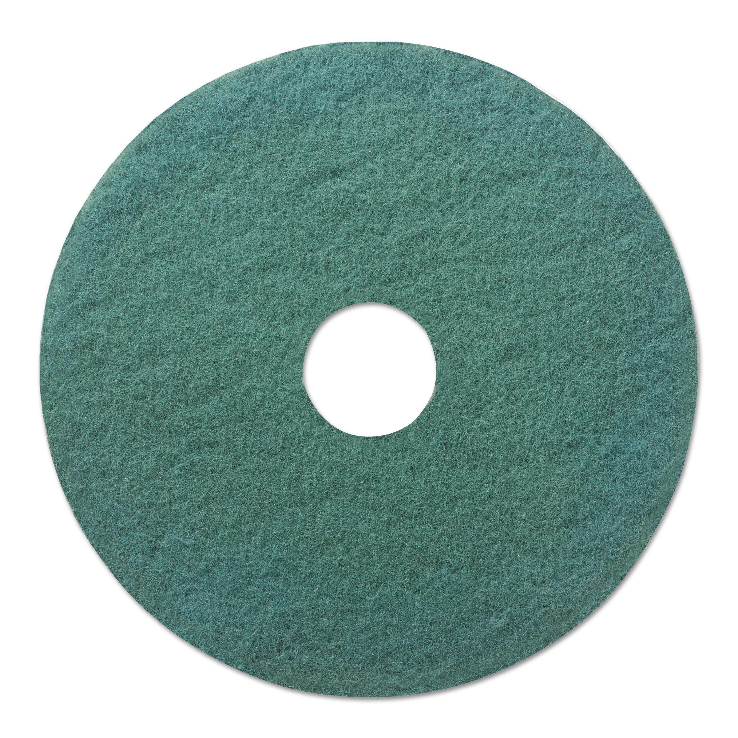 Boardwalk 4020GRE Standard Floor Pads, 20'' Diameter, Green (Case of 5)