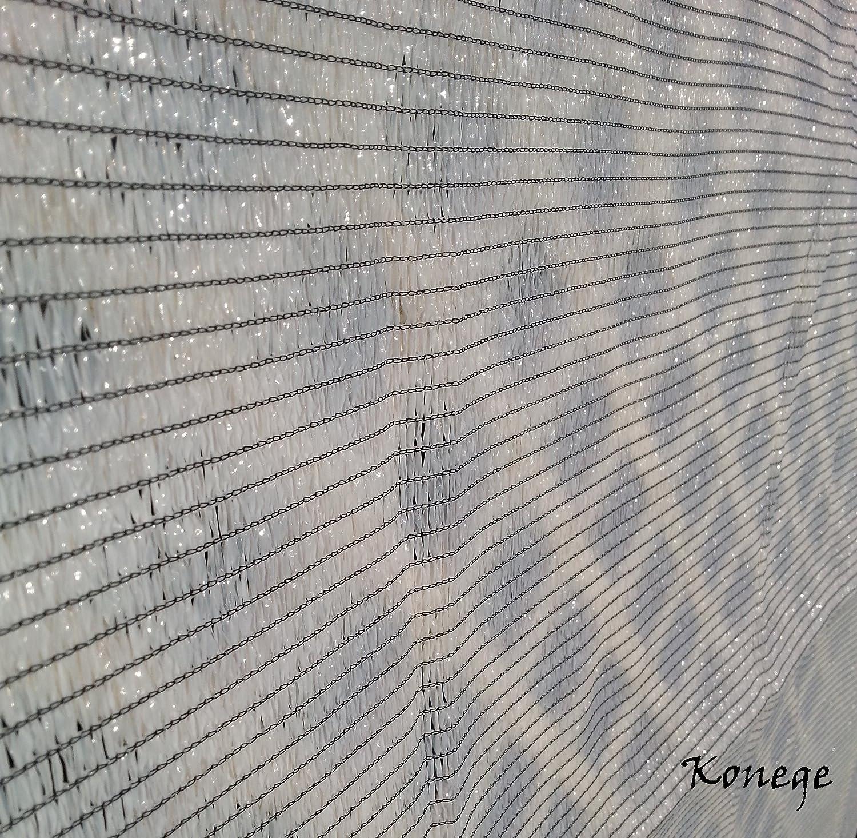 Gew/ächshaus Schattiernetz Hagelschutz Sonnenschutz 80/% Schattierwert wei/ß Breite 1,0m x L/änge 10,0m