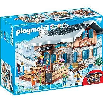 PLAYMOBIL Ski Lodge Building Set: Toys & Games