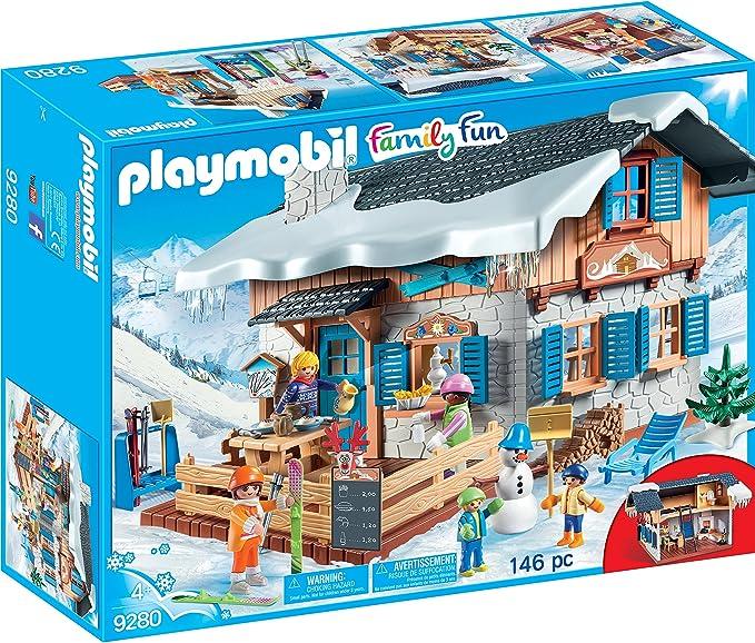 PLAYMOBIL Family Fun Cabaña de Esquí, A partir de 4 años (9280): Amazon.es: Juguetes y juegos