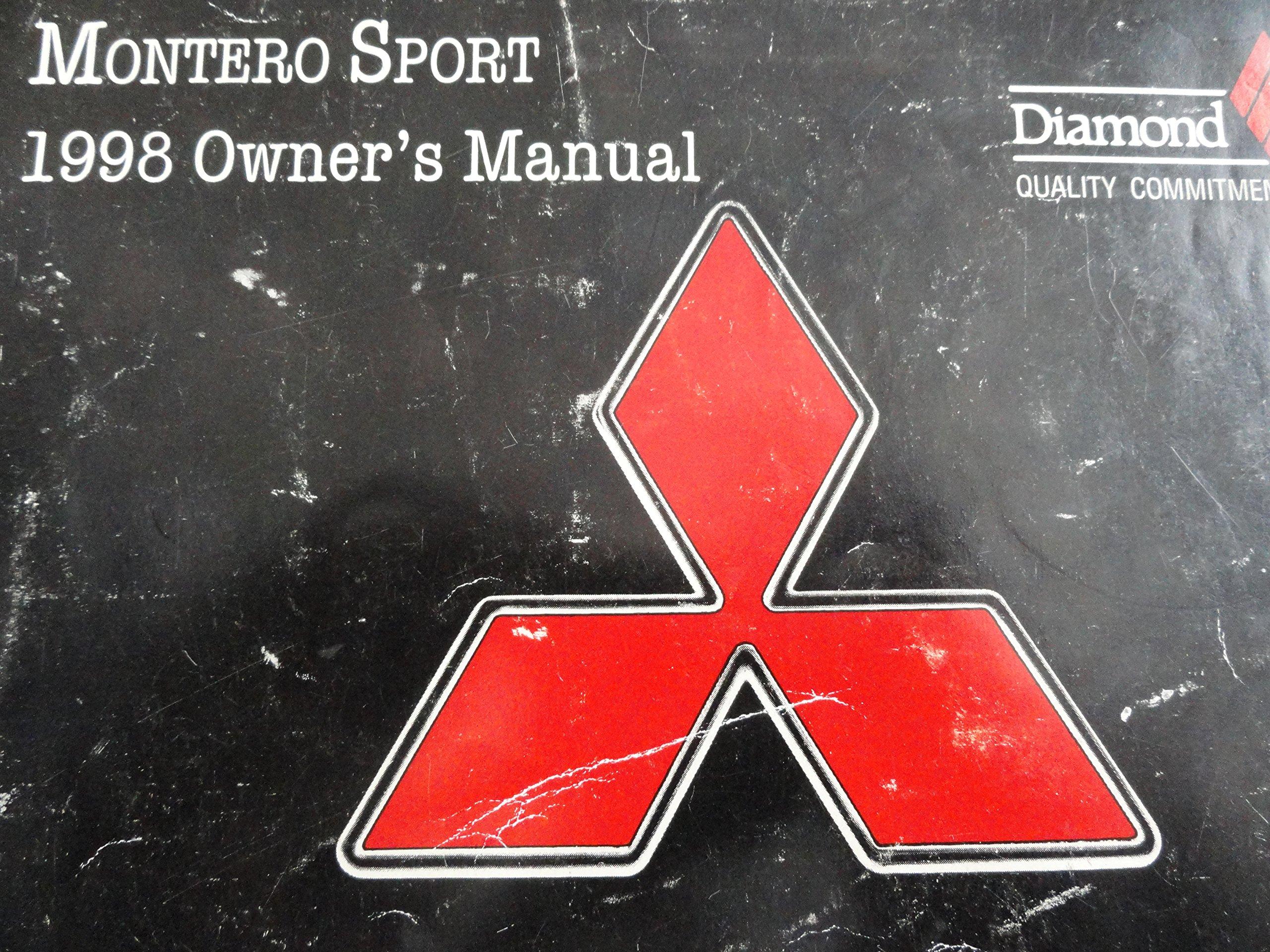 1998 Mitsubishi Montero Sport Owners Manual: Mitsubishi: Amazon.com: Books