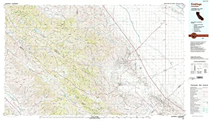 Coalinga California Map.Amazon Com Yellowmaps Coalinga Ca Topo Map 1 100000 Scale 30 X