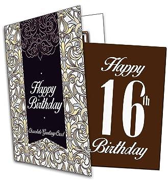 Alles Gute Zum 16 Geburtstag Happy 16th Birthday Chocolate Card