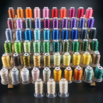 Amazon New Brothread 63 Brother Colors Polyester Embroidery