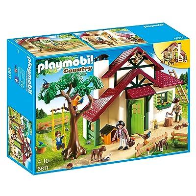 Playmobil 6811 Wildlife Forest Ranger's House: Toys & Games