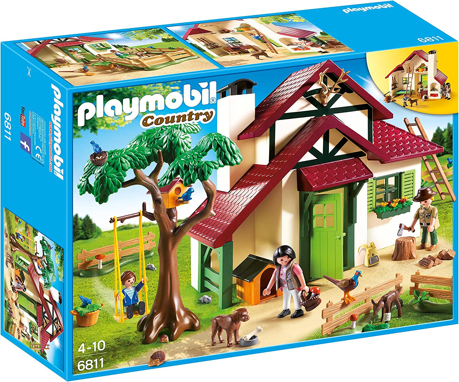 PLAYMOBIL- Forest Rangers House Playset, Multicolor (6811): Amazon.es: Juguetes y juegos