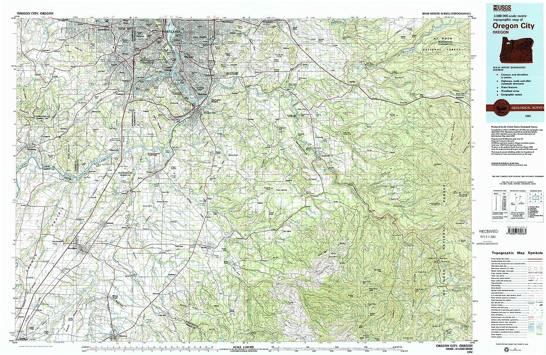 Amazon Com Yellowmaps Oregon City Or Topo Map 1 100000 Scale 30