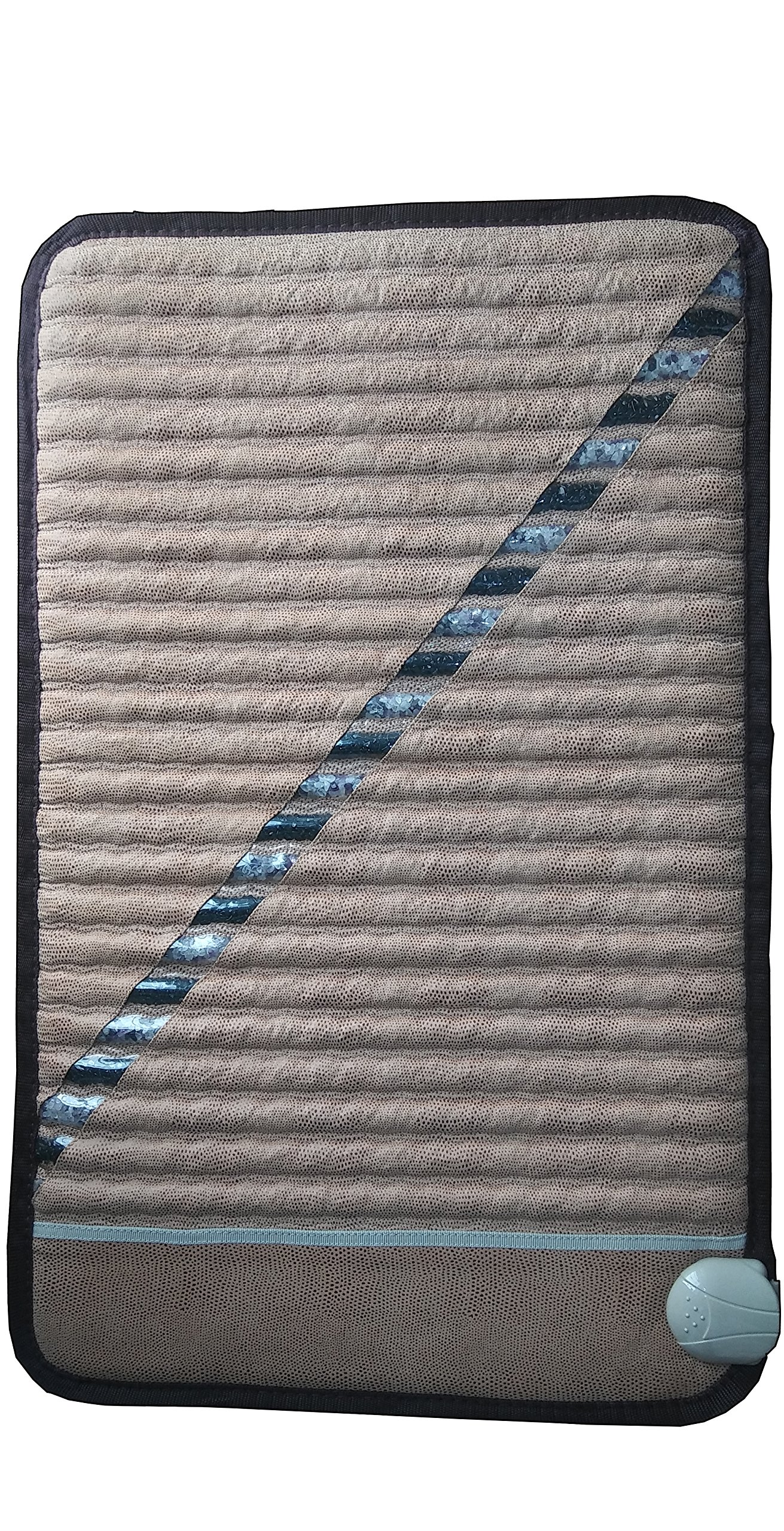Far Infrared Ray Heat Therapy Amethyst and Tourmaline Mini (31'' x 20'') Mat-Free Cover-FDA Registered-Adjustable Temp Setting by Infrared Mat