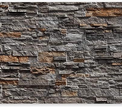 dise/ño de piedra WALL-ART Papel pintado para pared tama/ño XXL, efecto 3D