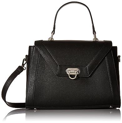 fafc36695bb Kadell Women Leather Designer Handbags Shoulder Bag with Cross Body Strap  Satchel Black