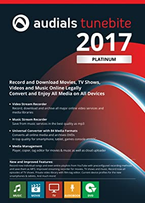Audials Tunebite 2017 Platinum - Save Music and Films from Paid Services [Download]