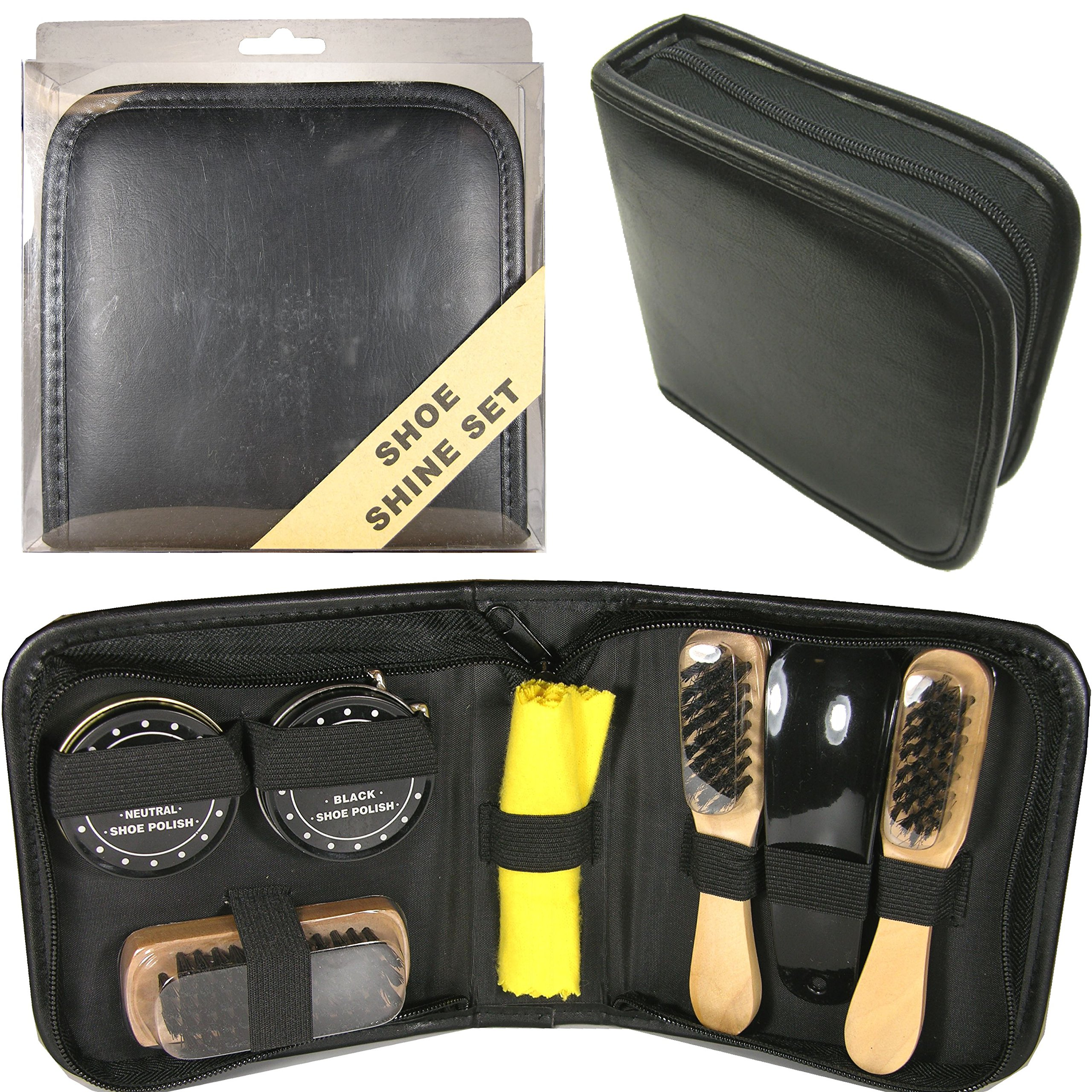 S5041SQ Deluxe Travel Shoe Shine Kit103063-NF by FixtureDisplays (Image #1)