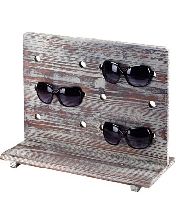 2640ef0489d8 MyGift Rustic Torched Wood 6 Pair Sunglasses Countertop Display Stand