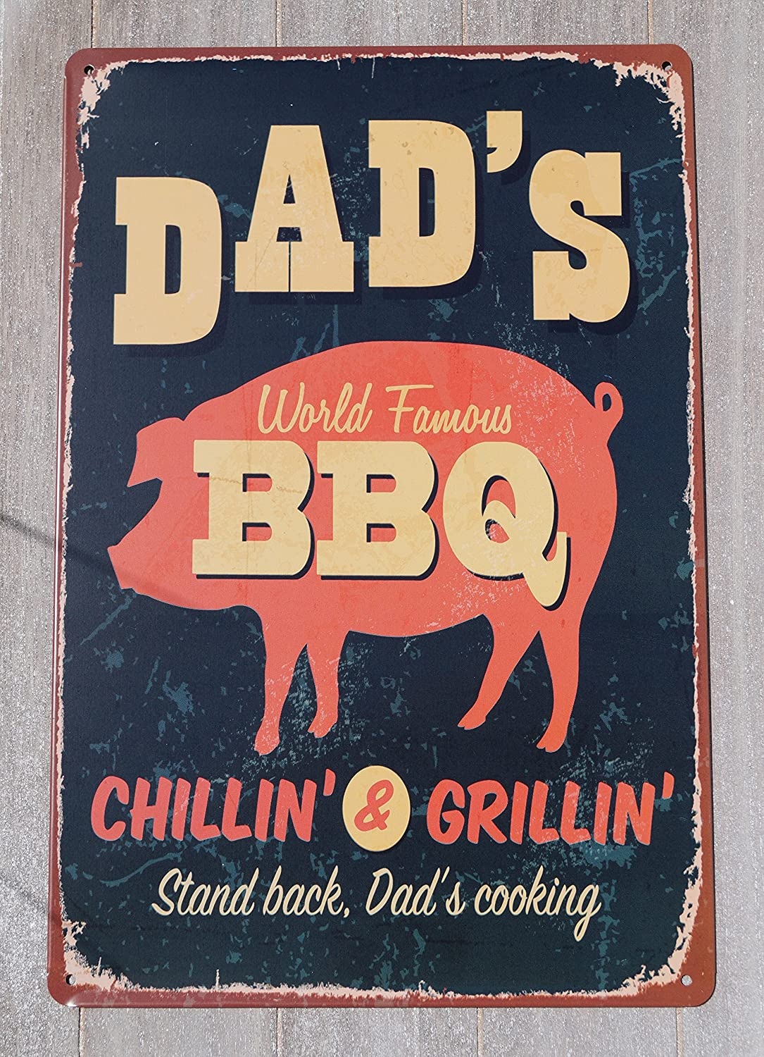 Cartel de chapa 20 x 30 Dad s BBQ: Amazon.es: Hogar