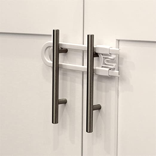 Home Kitchen Cupboard Baby Toddler Safety Door Catches Lock High Quality 10 Pack