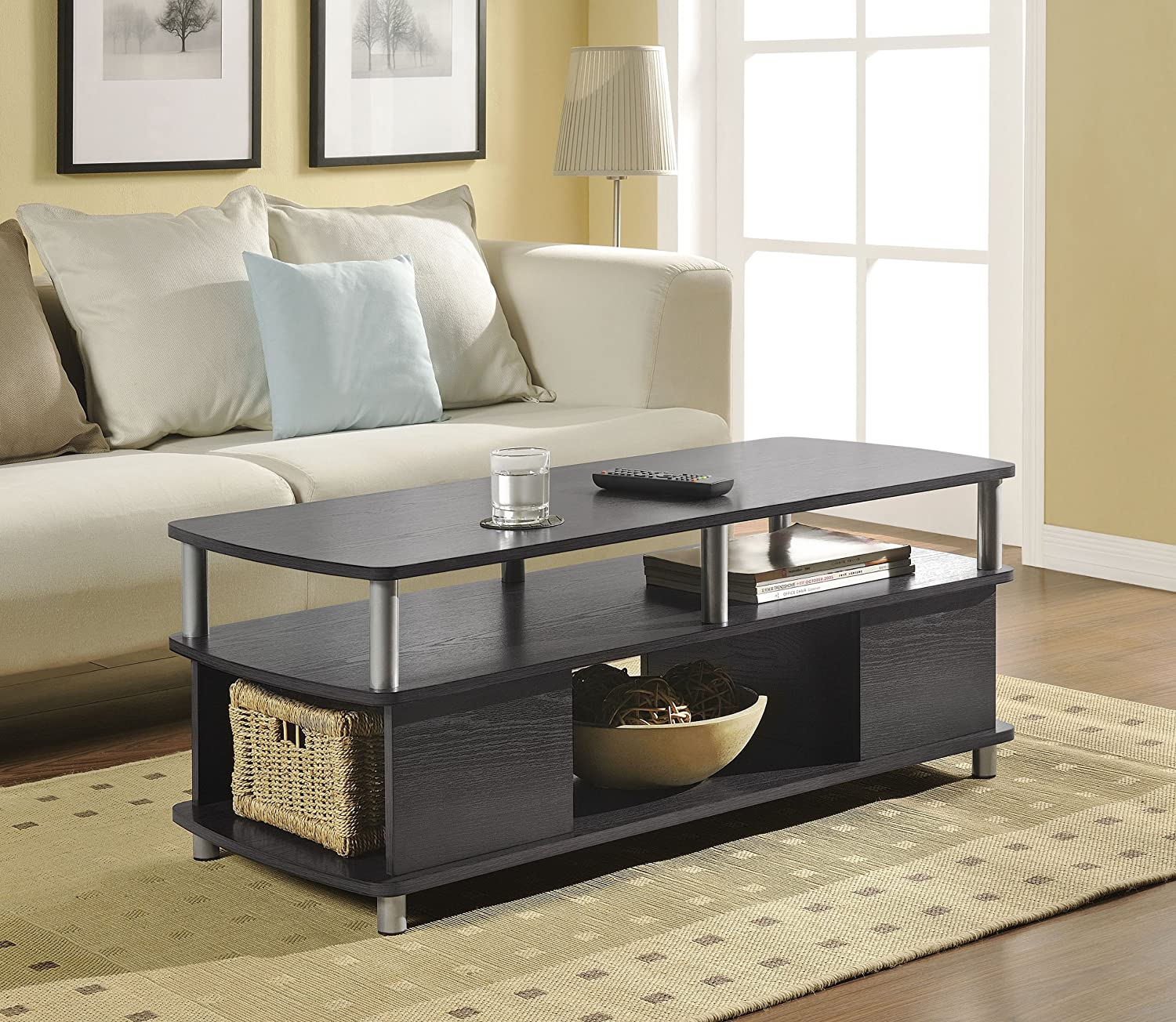 Amazon.com: Altra Carson Coffee Table, Espresso/Silver: Kitchen U0026 Dining